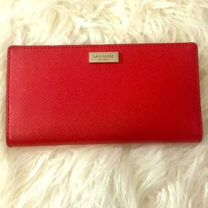 Kate Spade Hot Chili Stacy Laurel Way Wallet